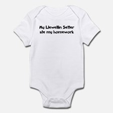 Llewellin Setter ate my homew Infant Bodysuit