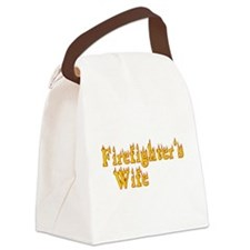 FIREFIGHTERS WIFE Canvas Lunch Bag