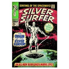 The Silver Surfer (The Origin Of The Silver Surfer Framed Print
