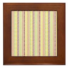 Warm Rain Pattern Framed Tile