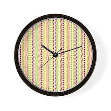 Warm Rain Pattern Wall Clock