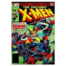 The Uncanny X-Men (Wolverine Lashes Out) Poster