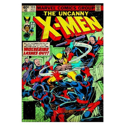 The Uncanny X-Men (Wolverine Lashes Out) Framed Print