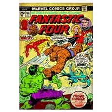 The Fantastic Four (It's The Hulk!) Canvas Art