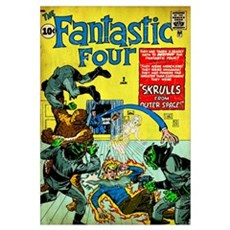 The Fantastic Four (Skrulls From Outer Space) Poster