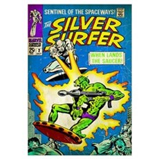 The Silver Surfer (When Lands The Saucer!) Canvas Art