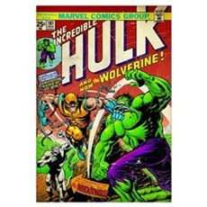 The Incredible Hulk And Now The Wolverine! Framed Print