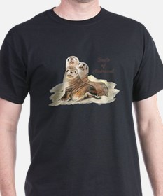 Cute Watercolor Seals of Approval Humor Animals T-