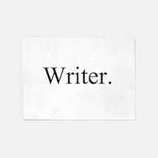 Writer. 5'x7'Area Rug