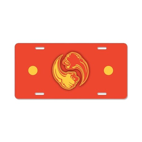 yin-bang-2red-T Aluminum License Plate