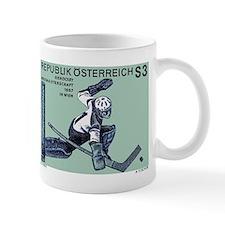 Vintage 1967 Austria Hockey Goalie Postage Stamp M