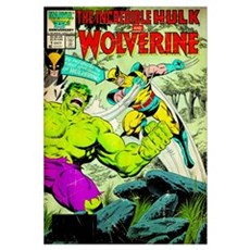 The Incredible Hulk And Wolverine Framed Print