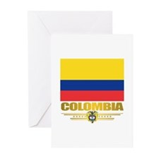 Flag of Colombia Greeting Cards (Pk of 10)