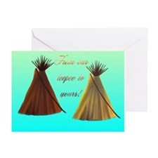 """""""Native American #2"""" Greeting Cards (Pk of 10)"""