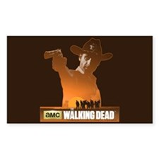 Rick Grimes Sheriff Sticker (Rectangle)