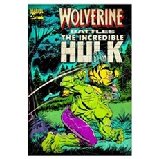 Wolverine Battles The Incredible Hulk Framed Print