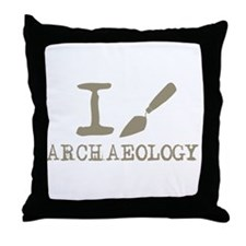 I dig Archaeology Throw Pillow