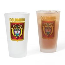 Colombia Gold Drinking Glass
