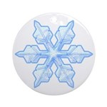 Flurry Snowflake VI Ornament (Round)