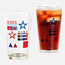 2001 Millennium Generation design Drinking Glass