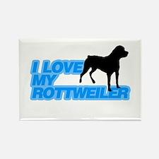 I love my Rottweiler Rectangle Magnet