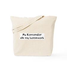 Komondor ate my homework Tote Bag