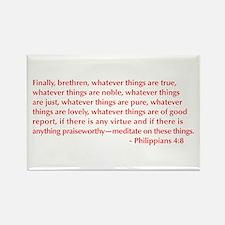 Philippians-4-8-opt-burg Rectangle Magnet