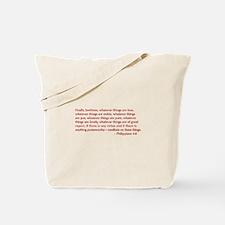Philippians-4-8-opt-burg Tote Bag
