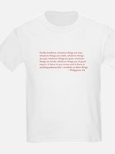 Philippians-4-8-opt-burg T-Shirt