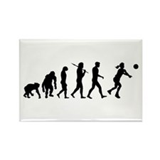 Evolution of Volleyball Rectangle Magnet