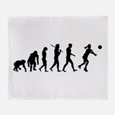 Evolution of Volleyball Throw Blanket