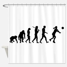 Evolution of Volleyball Shower Curtain