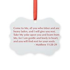 Matthew-11-28-29-opt-burg Ornament