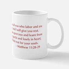 Matthew-11-28-29-opt-burg Mug