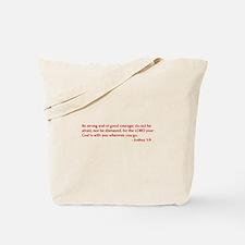 Joshua-1-9-opt-burg Tote Bag