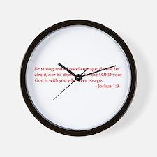 Joshua-1-9-opt-burg Wall Clock