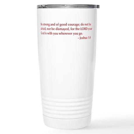 Joshua-1-9-opt-burg Travel Mug
