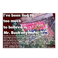 Been Lied to by Bush Postcards (6)