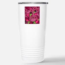 Modern Pink & Green Paisley Travel Mug