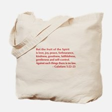 Galatians--5-22-23 Tote Bag