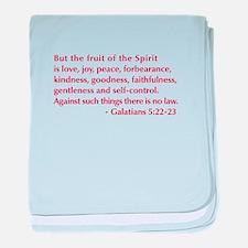 Galatians--5-22-23 baby blanket
