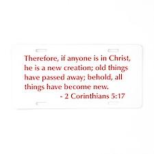 2-Corinthians-5-17-opt-burg Aluminum License Plate