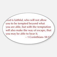 1-Corinthians-10-13-opt-burg Decal