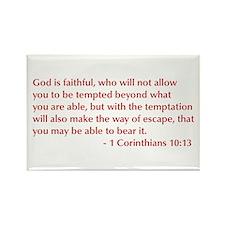 1-Corinthians-10-13-opt-burg Rectangle Magnet (10