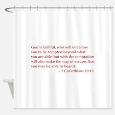 1-Corinthians-10-13-opt-burg Shower Curtain