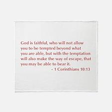 1-Corinthians-10-13-opt-burg Throw Blanket