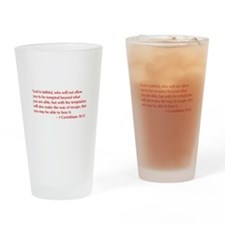 1-Corinthians-10-13-opt-burg Drinking Glass