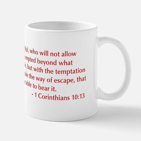 1-Corinthians-10-13-opt-burg Mug