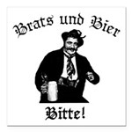 Brats und Bier Square Car Magnet 3