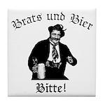 Brats und Bier Tile Coaster